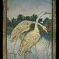 ca 1440-1445 Hofjagdspiel château de Ambras - 2 de Cygnes - cartes peintes - Vienne - tarothistorydotcom