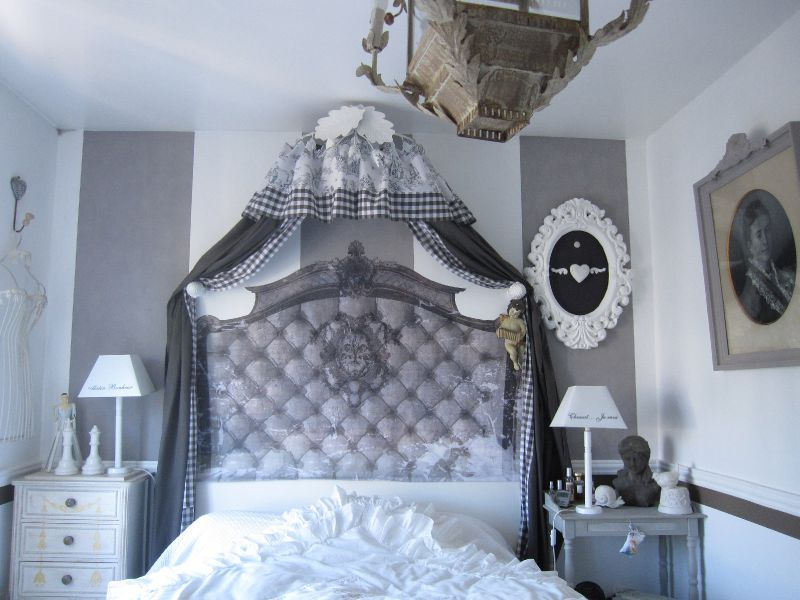 chambre grise une bulle de coton. Black Bedroom Furniture Sets. Home Design Ideas