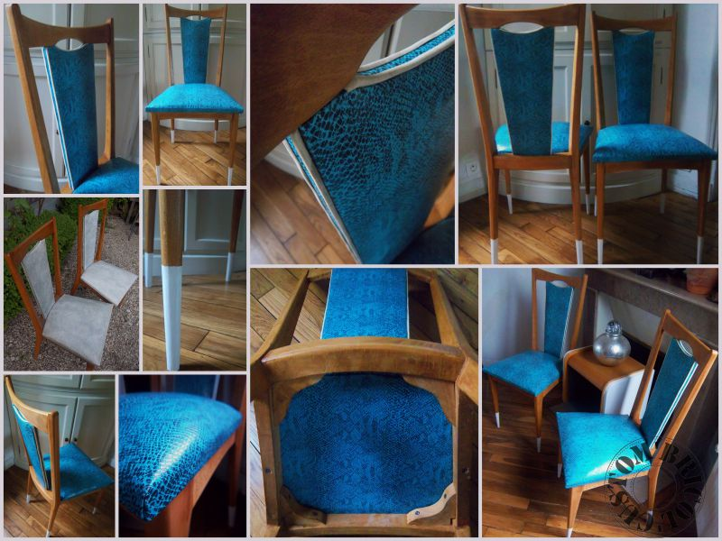 Chaises python turquoise montage CB