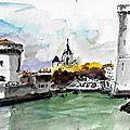 La Rochelle l'entrée du Vieux Port - Copie