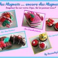 Mes magnets fimo gourmands