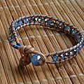 Bracelet wrap bleu