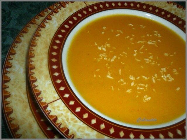 soupe carottes potimarron et crme de coco 02