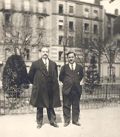 1930 avec un ami de guerre