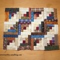 Quilt miniature en log cabin, i
