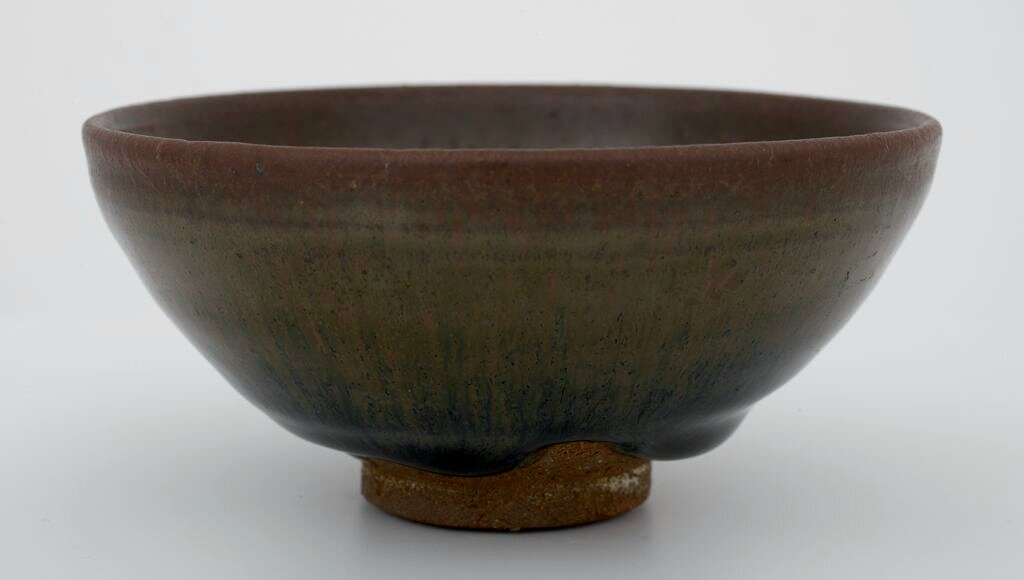 Small Circular Tea Bowl with Russet Hare's-Fur Markings, Song dynasty, 12th-13th century