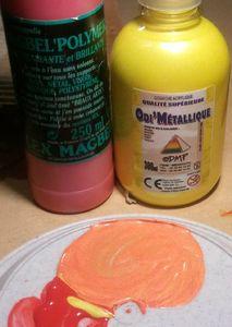 mélange polymer+odi'métallique= orange