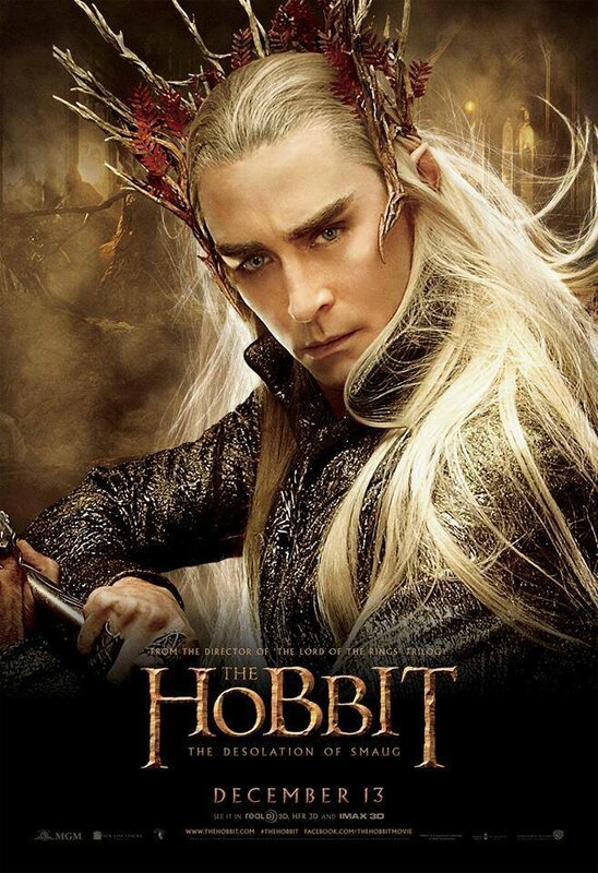 The Hobbit Desolation of Smaug Thranduil poster