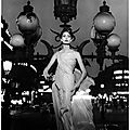Mary mclaughlin in evening dress by dior, photo by william klein, paris, 1957