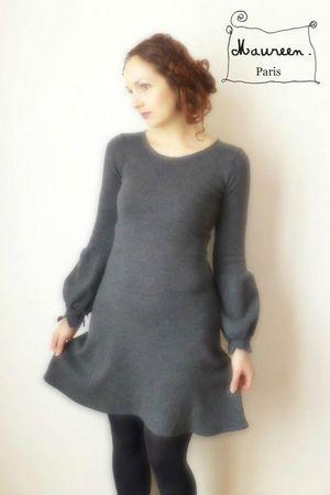robe maria grise maureen3