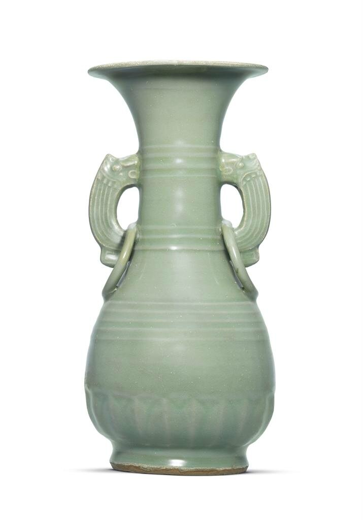 A Longquan celadon pear-shaped vase, yuhuchunping, Southern Song dynasty (1127-1279)