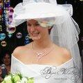 Collier mariage mirage en fil plaqué argent, création épurée et morderne