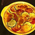 Clafoutie courgette tomate mozza
