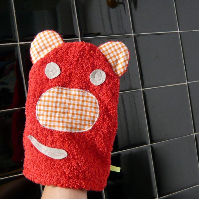 gant de toilette ours