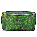 A cizhou green-ground grisaille-decorated pillow, northern song dynasty, 960-1126