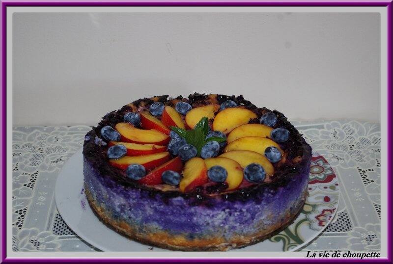 cheesecake myrtilles-pêches-1