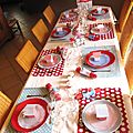 Pâques 2012 à pois rouges et bleus
