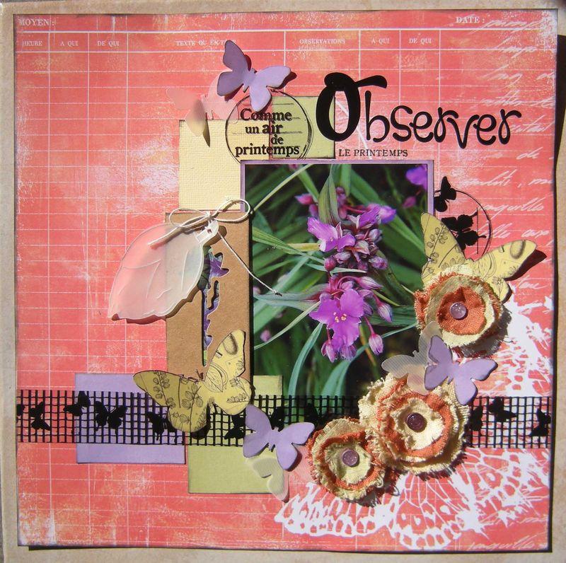 Observer le printemps x