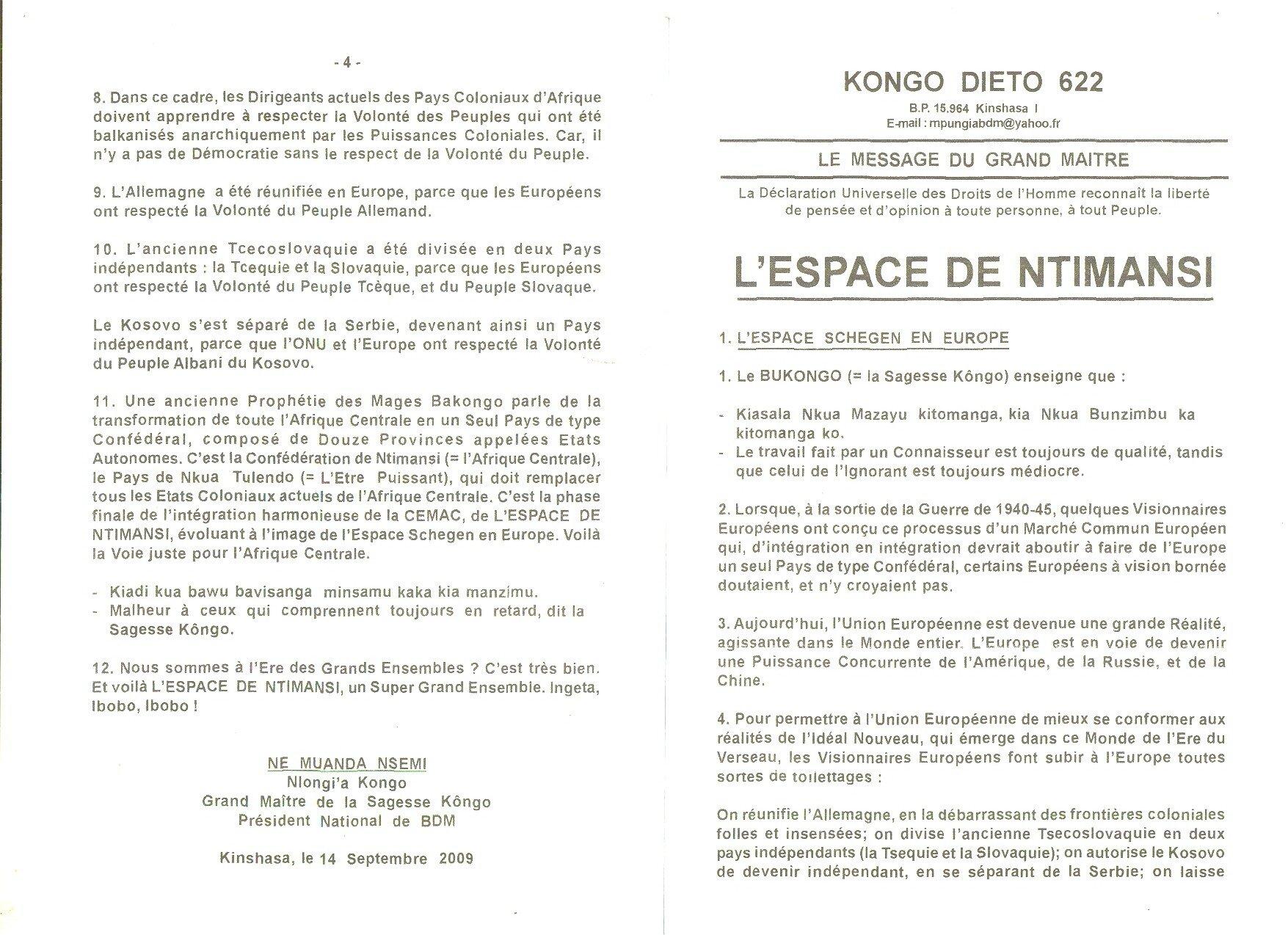 L'ESPACE DE NTIMANSI 1