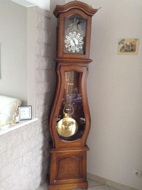 horloge relookée en naturel bois clair