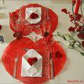 Table de saint valentin