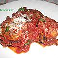 Parmesane d'aubergines grillées