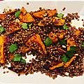 Salade tiede de lentilles et butternut