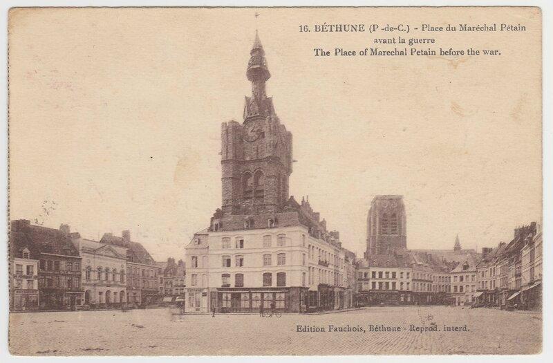 Bethune, Place du Marechal Petain, avant la guerre, 1920 pê