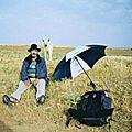 27 - 3 - mon parapluie sert de bouclier contre 3 molosses...