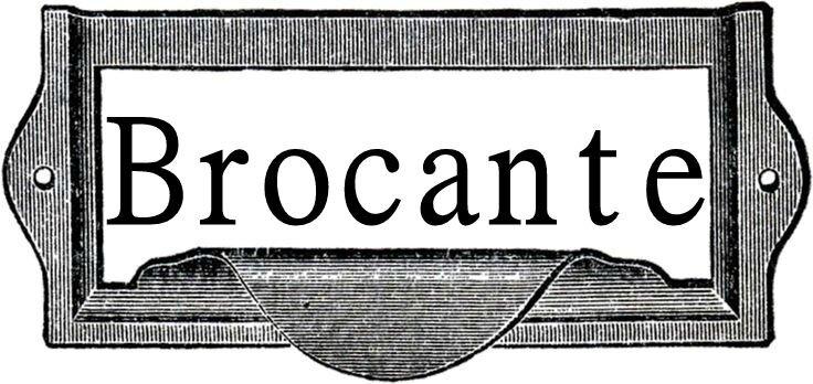 étiquette brocante