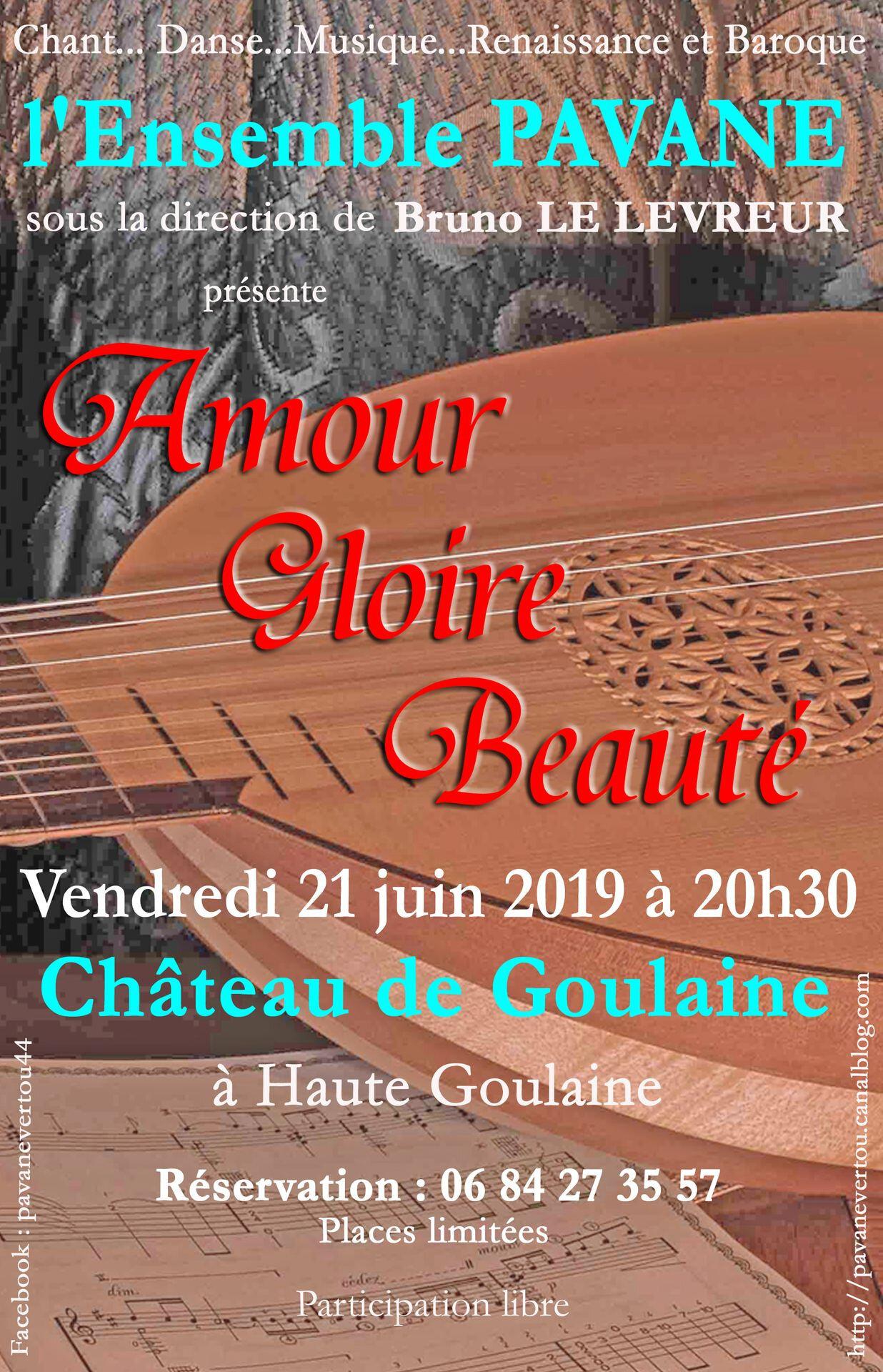 Château de Goulaine : concert le 21 juin 2019