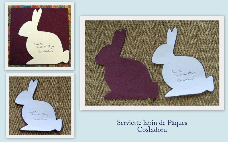 serviette lapin de Pâques2