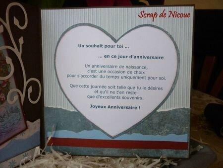 Carte d'anniversaire pour Chantalou - Intérieur 2 - janvier 2012