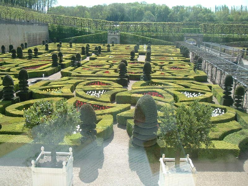 Villandry le parc vue de la chambre du prince jérôme l e27