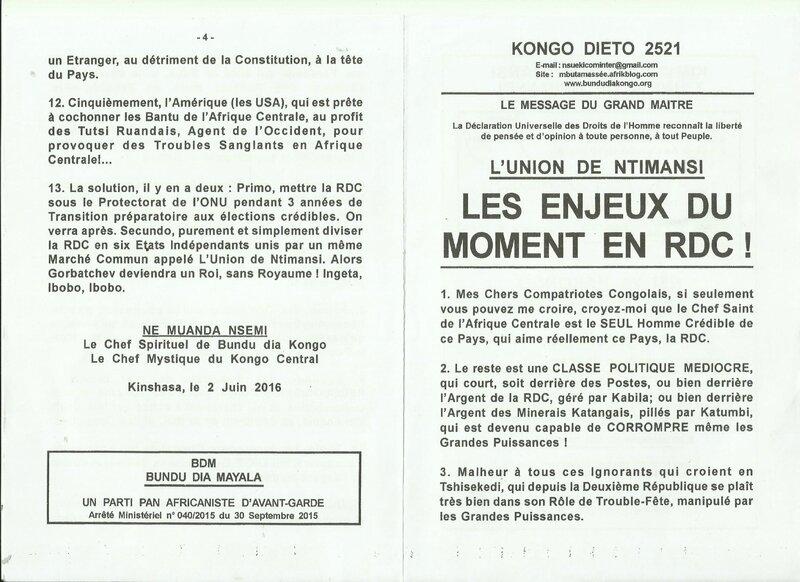 LES ENJEUX DU MOMENT EN RDC a