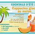 Scrap ou café : le jeu de l'été : cappucino glacé au melon