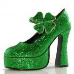 Shamrock-GIitter-Platform-Shoes