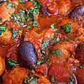 tajine de merguez aux olives - graine de couscous