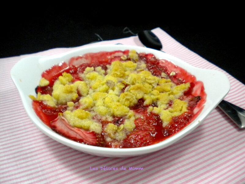 Crumble aux fraises tout simplement 2
