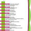 Programmations des atelier mai-juin 2012