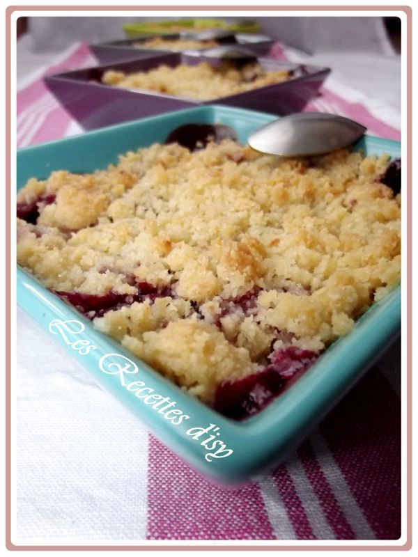 crumble pomme fruits rouges1