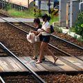 Meitetsu Kitayama crossing girls
