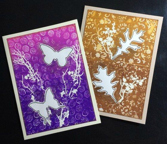 cartes gelli plate