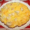 Omelette au poulet fumé et cheddar