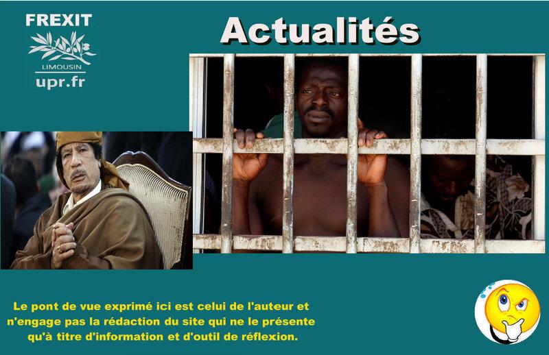 ACT KHADAFI ESCLAVAGE LIBYE