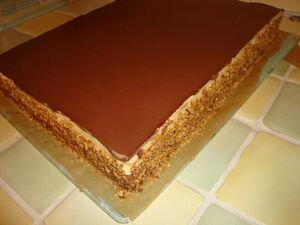 Entremet chocolat poire & caramel