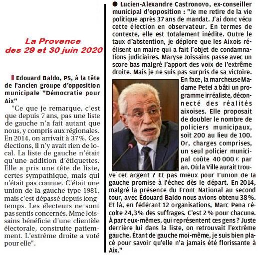 Municipale 2020 La Provence 30