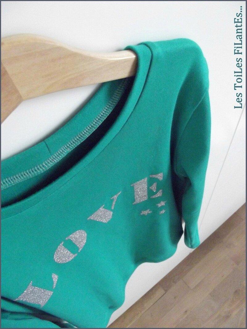 Tee-shirt vert LOVE2