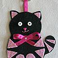 Porte-clé petit chat noir