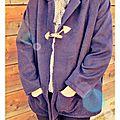 Mon premier manteau réalisé grâce au chouette kit, il est chaud, oversize et enveloppant, très douillet quoi!